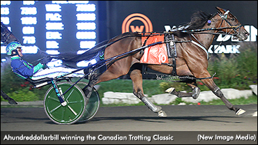 """Featured image for """"Ahundreddollarbill Cashes In Canadian Trotting Classic"""""""